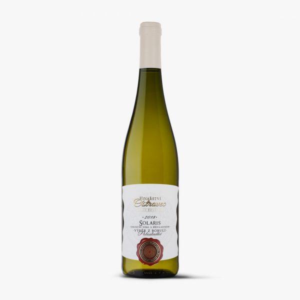 Bílé víno, Solaris výběr z bobulí 2018, VINIUM, Ostrovec