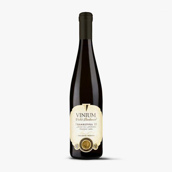 Frankovka, červené víno, 2015, pozdní sběr, VINIUM